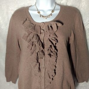 the limited cardigan size L brown